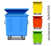 set of colorful recycling bins. ... | Shutterstock .eps vector #56943550