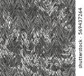 vector zebra pattern over black ... | Shutterstock .eps vector #569437264