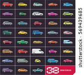 cars icons set  flat style car...   Shutterstock .eps vector #569439685