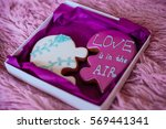 a box of ginger st valentine's... | Shutterstock . vector #569441341