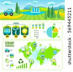 eco cartoon infographic... | Shutterstock .eps vector #569445211
