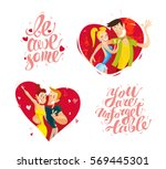 Vector Collection Of Flat Happ...
