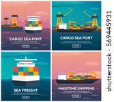 sea transportation logistic.... | Shutterstock .eps vector #569445931