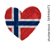 hand drawn heart with flag of... | Shutterstock . vector #569446471