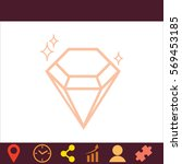 diamond  icon. vector design.