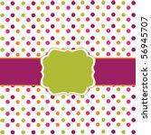 polka dot design frame   Shutterstock .eps vector #56945707