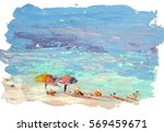 picture of the beach and sea....   Shutterstock . vector #569459671