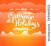 summer travel vector... | Shutterstock .eps vector #569460025