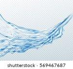 transparent water splashes ... | Shutterstock .eps vector #569467687