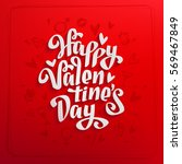 happy valentines day vintage... | Shutterstock .eps vector #569467849