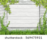 a white wooden sign nailed to... | Shutterstock .eps vector #569475931