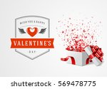 happy valentines day greeting... | Shutterstock .eps vector #569478775