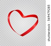 red shiny heart shape from... | Shutterstock .eps vector #569479285