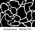 jungle print skin spot giraffe... | Shutterstock .eps vector #569481745