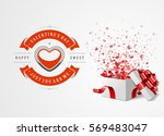 happy valentines day greeting... | Shutterstock .eps vector #569483047