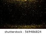 golden glitter texture... | Shutterstock . vector #569486824