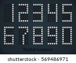 silver digital numbers  score... | Shutterstock .eps vector #569486971