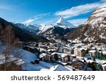 the beautiful village of... | Shutterstock . vector #569487649