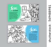 two beautiful banners of sketch ... | Shutterstock .eps vector #569488981