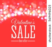 valentines day sale offer.... | Shutterstock .eps vector #569496025