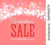 valentines day sale offer.... | Shutterstock .eps vector #569496079