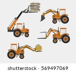 set of vector agricultural...