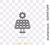 line icon  solar panel | Shutterstock .eps vector #569497699