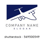 plane logotype | Shutterstock .eps vector #569500549