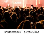 crowd in a concert. | Shutterstock . vector #569502565