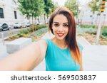 half length of young handsome... | Shutterstock . vector #569503837
