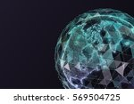 abstract map of the global...   Shutterstock . vector #569504725