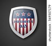 president's day shield banner... | Shutterstock .eps vector #569507179