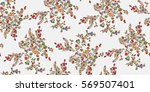 seamless floral pattern in... | Shutterstock .eps vector #569507401