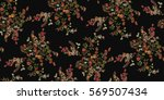 seamless floral pattern in... | Shutterstock .eps vector #569507434