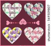 romantic design element for... | Shutterstock .eps vector #569509807