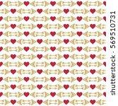 valentine seamless pattern. red ... | Shutterstock .eps vector #569510731