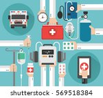 healthcare ambulance online... | Shutterstock .eps vector #569518384