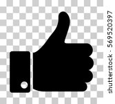 thumb up icon. vector... | Shutterstock .eps vector #569520397