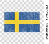 grunge sweden flag. swedish... | Shutterstock .eps vector #569520565
