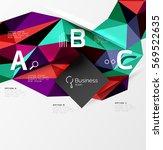 3d polygonal object triangles ...   Shutterstock .eps vector #569522635