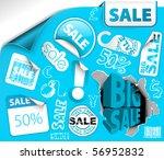 set of blue discount tickets ...   Shutterstock .eps vector #56952832