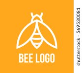 bee logo design. icon bees in a ... | Shutterstock .eps vector #569530081
