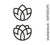 flower logo design. icon of a... | Shutterstock .eps vector #569530195