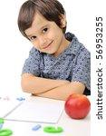 school boy | Shutterstock . vector #56953255