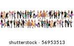 mega shopping crowd   Shutterstock . vector #56953513