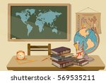 time to education  back to... | Shutterstock .eps vector #569535211