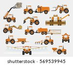 set of vector agricultural... | Shutterstock .eps vector #569539945