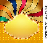 retro banner on colorful... | Shutterstock .eps vector #569540431