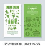 collection of banners for st.... | Shutterstock .eps vector #569540701