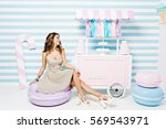 sweet lifestyle  cheerful mood... | Shutterstock . vector #569543971